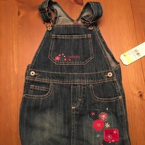 NWT Osh Kosh overall toddler skirt